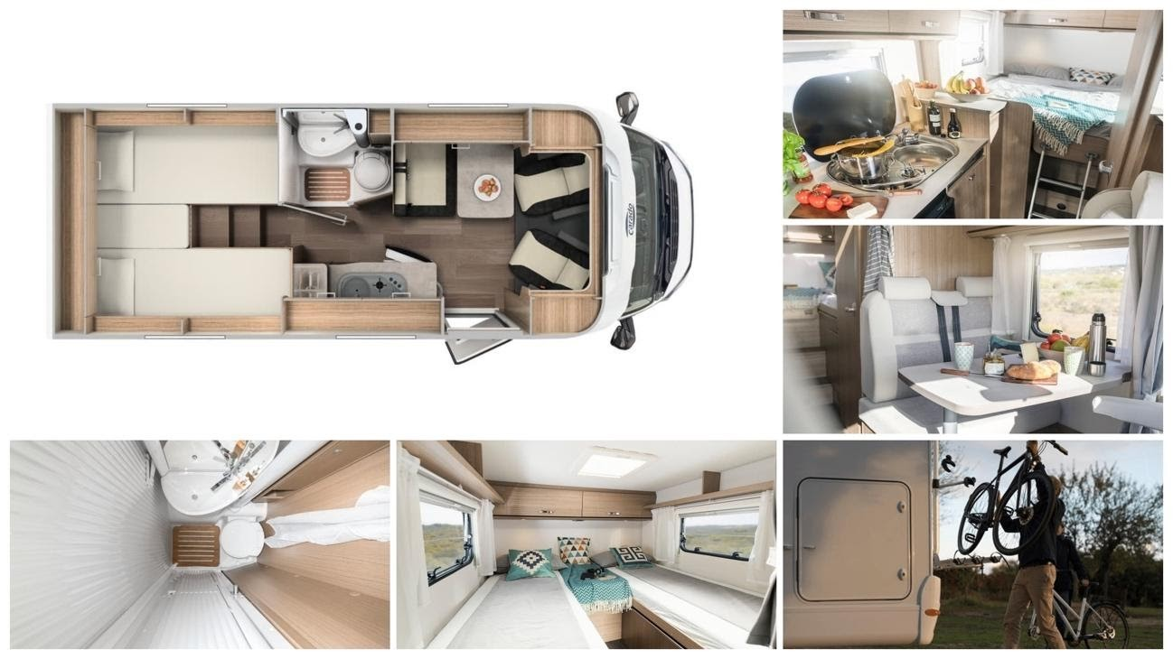 interior vehículo de alquiler autocaravanas sabadell