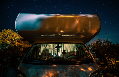 pernoctar en dormir con autocaravana